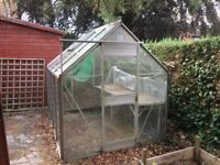 Aluminium Greenhouse with horticultural glass and base