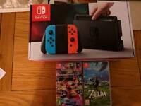 Nintendo switch plus games 2 weeks old