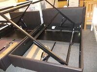 Brand new attenborough 4.6ft ottoman bed frame in chocolate