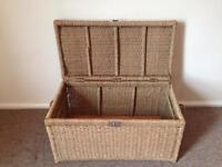 Large Wicker Storage Box / Linen Basket