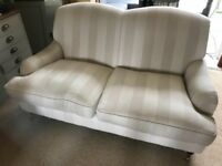 Laura Ashley 2 seater sofa brass casters