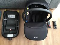 Silvercross 'simplicity' car seat and 'simplifix' isofix base. Good condition (manuals included)