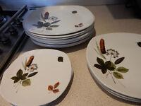 14 x Mid Century Vintage Dinner Tea Set Midwinter Stylecraft Fashion Shape