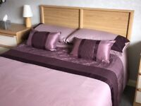 KINGS SIZE QUILT COVER SET, MATCHING CURTAINS and MATCHING THROW