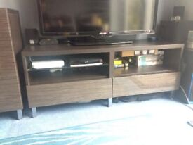 Ikea Besta TV Media Unit in Bamboo
