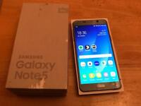 Samsung galaxy note 5 32GB unlocked dual sim boxed android 7( android pay )