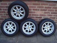 4 Minator Minilites with TOYO Proxes 888 tyres