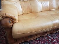 Sofa -3 piece suite -MUST GO, Make me an senisble OFFER -excellant quality Chesterfield style