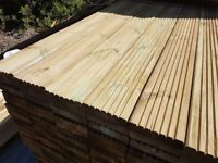 🌟 Decking Boards 30mm x 125mm Pressure Treated Green