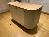 Solid Wood Kitchen Island - Handmade with free delivery option