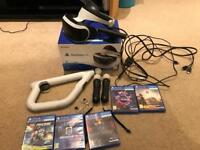 PSVR - Playstation VR Bundle - Headset, Camera, Move Controllers, Gun Controller and Games