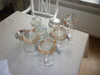 8 x Kilner Style Clip Top Jars – good clean condition. Ideal for Bottling, Pickling, storing herbs