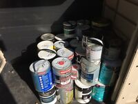 Paint 50 gallon left over all unopend tins mixed