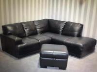 Dsf corner sofa with footstool - ex display!