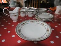 Vintage Ye Olde English Grosvenor China Coffee Set jackson and Golsing