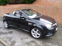 VAUXHALL TIGRA SPORT CONVERTIBLE, 2005 REG WITH MOT, LOW MILES & FULL HISTORY WITH ALLOYS & AIR CON