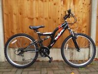 Bargain Boys bike Hawk Trier Full suspension VGC