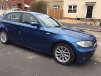 BMW 1SERIES 2.0D MANUAL 1YEAR MOT, METALLIC BLUE £1699