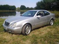 Mercedes benz clk 230 sports kompressor coupe automatic 1998 r reg long mot service history bargin..