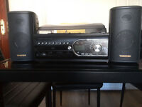 CLAS OHLSON CD-MP3 RECORD PLAYER WITH CASSETTE AND RADIO TCD-983WEC