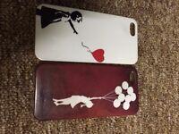 iPhone 5, 5S 2 x Banksy Balloon Girls Covers
