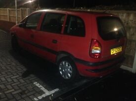Vauxhall zafira spares or repairs