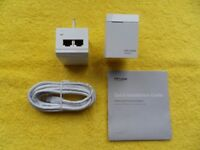 TP LINK - av500 2 port powerline adapter - extended broaband coverage - simple to use