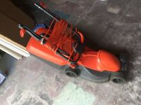 Flymo electric lawnmower wheeled
