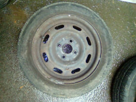 175/60R14 - 4x100 PCD - 14 inch steel wheels and tyres