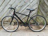 Black Like New Hybrid Bike With Shimano Gears 700c Wheels Mens Unisex
