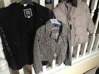 3 girls jackets size Small, 6-7 year old and 8 year old