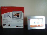 """NEW Agfa Photo Digital Photo Frame AF5075 7"""" Screen with Remote Control"""