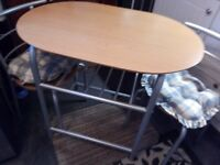 SPACE SAVING SMALL TABLE DINING/KITCHEN TABLE & TWO CHAIRS