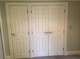 Internal white panelled doors for sale
