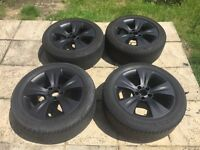 "19"" Genuine X5 black staggered alloys 5x120 fits insignia and VW t5 transporter"