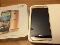 HTC M8 android mobile phone excellent condition with box etc 16gb and 5 inch screen
