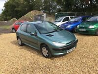 2001 Peugeot 206 1.4 LX 6 Months MOT Service History Low Milage 1 Former Keeper 2 Keys Cheap Car