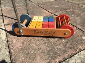 """Rare 1950's vintage Tri-Ang """"Busy Baby"""" walker"""