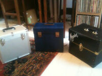 3 X Record Case Carrying boxes, Decca, Megabox and Heavy Duty DJ box ONLY £15 EACH !