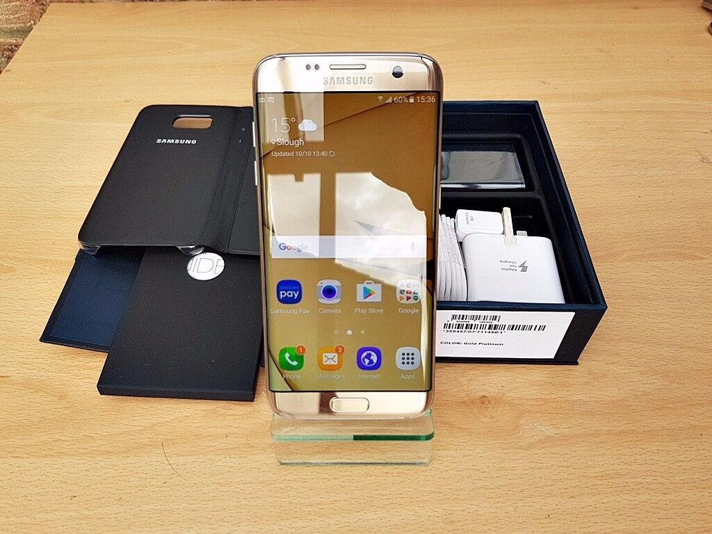 SAMSUNG GALAXY S7 EDGE SM-G935F 32GB GOLD PLATINUM IMMACULATE CONDITION MUST SEE!