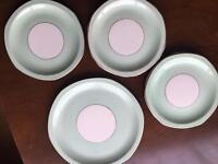 Salad plates and serving plate