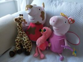 Peppa pig soft toy and other soft toys