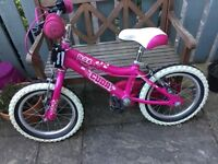 "Cuba Blox - Girls 14"" Bike with stabilisers and a Balance Buddy"
