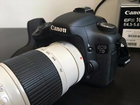 Canon 7D Like New (3500 shutter count) + 3 lenses 50mm/10-18mm/70-200mm L