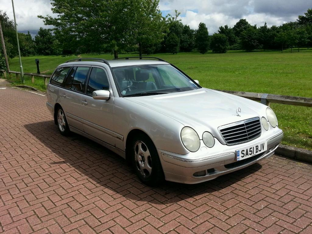 mercedes e220 cdi 2001 estate 7 seater silver full. Black Bedroom Furniture Sets. Home Design Ideas