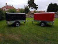 NEW Car trailers 6' x 4' 1,2 WITH COVER FIX PRICE £530 inc vat