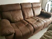 Faux suede sofa