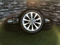 "17"" Genuine Audi A5 A6 C7 Alloy Wheels Tyres 4G"
