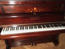 Upright piano: Schiedmayer: lovely sound, good condition; circa 1910
