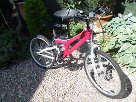 "Girl's/small lady's Reebok bike. 24"" wheels. With gel seat & bike lock."